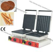 Commercial Nonstick Electric Dutch Syrup Waffle Machine Iron Churros Baker Maker