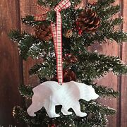 Bear, Christmas Tree Ornament, Holiday Decoration, Gift, Metal, Rustic, Country