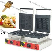Commercial Nonstick Electric Belgian Waffle Stick Baker Square Waffle Maker Iron