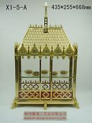 +brass Large Monstrance Reliquary For Church Or Home+relic+gift 26.3h X1-5-a