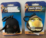 Angry Birds Star Wars Backpack Clip Darth Vader And Han Solo 3 Plush Keychain