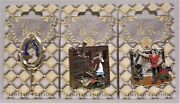 Disney Beauty And The Beast 25th Anniversary Belle 3 Pins Set Le 4000 New