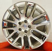 Cadillac Ats 19 Staggered Genuine Gm Acc. Wheels Ultra Silver W/ Chrome Inserts