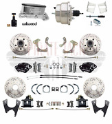 Chevy Belair 55-58 Front And Rear Wilwood Disc Brake Chrome Booster Conversion Kit