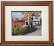 Risser Mill And Bridge Pa Oil Painting Print