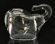 Lead Crystal Lucky Elephant Trunk Up Coin Bank Made In Czech Republic 24 Pbo