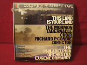 Morman Tabernacle Choir This Land Is Your Land New Sealed 7 1/2 Ips Reel To Reel