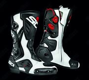 Sidi Roarr White/red/black Sports Touring Motorcycle Boot Was Andpound240