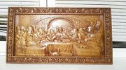 Icon Last Supper Jesus 3d Art Orthodox Wooden Carved Religious Picture. Size 41