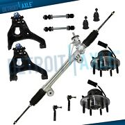 2wd Rack And Pinion Lower Control Arm Front Wheel Bearing Tierod 11pc Kit W/ Abs