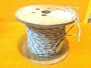 New 1000and039 Spool Simcona Coleman Cable Awm White / Blue 14 Awg Hook Up Lead Wire