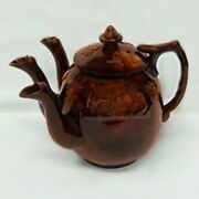 Rare English 3-spouted Tea Pot - Exhibited In Cooper Hewitt