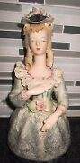 Vtg Cordey Figurine Large Bust 10 Victorian Laced Dress Collar
