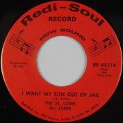 St. Louis All Stars Want My Son Out Of Jail Redi Soul Black Gospel 45 Hear