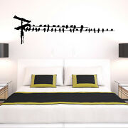 Birds On Telephone Wire Vinyl Wall Decal - Fits Nursery Living Room + More K661
