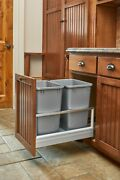 Rev A Shelf Double Bin Pull-out 15 Cabinet Trash Recycling Center 5149-18dm-217