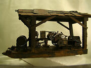 Gasoline Tractor Logging Winch On Skidder With Roof - Custom Built Weathered
