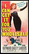 I Can Get It For You Wholesale Cinemasterpieces 3sh Original Movie Poster 1951