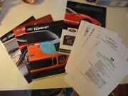 2006 Ford Gt Sales Pack Rare 3 New Oem Brochures Sealed Pack + 9 Page Sale Guide