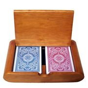 Kem Arrow Red And Blue Decks Poker Size Regular Index Plastic Playing Cards