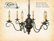 Queen Anne 6-arm Wooden Chandelier By Katieand039s Lighting-8 Color Options