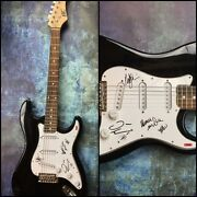 Gfa Dave Mustaine Ellefson And Marty Megadeth Signed Electric Guitar M1 Coa