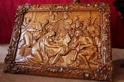 Icon Nativity Of Jesus, Birth Of Jesus Wooden Carved Picture. Great Gift. 30