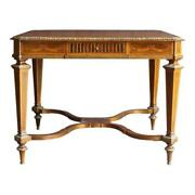 Antique Table Desk Writing Desk French Regency Library Table