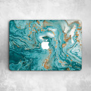 Oil Gold Turquoise Marble Hard Cover Case For Macbook Pro 12 13 15 16 Air 11 13