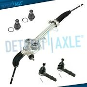 5pc Power Steering Rack And Pinion + 2 Lower Ball Joint + Inner And Outer Tierod