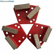 Trapezoid Htc Grinding Discs For Bolt On Grinders - 18/20 Medium Bond Set Of 3