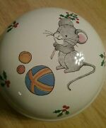 Vintage Teddy Covered Trinket Box By Mikasa 3andfrac14inch Cc019 Mouse