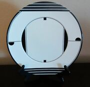 Mikasa Manhatten Black And White Chop Platter Service Plate/charger