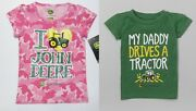 John Deere Toddler Girls Green Daddy Or Pink Tractor T-shirts 2t 3t Or 4t Nwt
