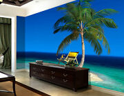 One Lonely Palm Tree Island Full Wall Mural Photo Wallpaper Print Home 3d Decal