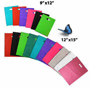 9 X12 And 12 X15 Colored Plastic Merchandise Store Bags Retail Product Bags