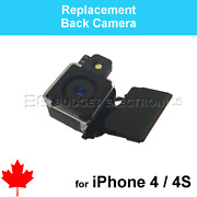 For Iphone 4/4s Replacement Back Rear Camera Plus Flex Cable Part
