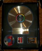 The Smithereens-capitol-1989-original Gold Record-framed-rare-rare-only One-riaa
