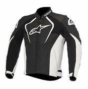 New Alpinestars Jaws White/black Leather Motorcycle Jacket Thermal Liner