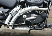 Magnum Exhaust Drag Pipes Sportster Hugger 1200cc Xl 2004-up Chrome