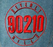 Rare Beverly Hills 90210 Usa Authentic Luke Perry Autographed Jean Jacket Sz Xl