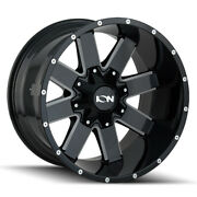 Ion Alloy 141 20x10 8x165.1/8x170 Offset -19 Black W/milled Spokes Qty Of 4
