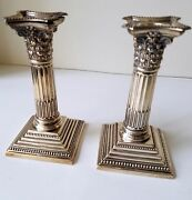 Pair And Company Silver 6 1/2 Candlesticks