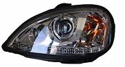 Freightliner Columbia Projector Led Headlight | Driver Side Lh | Chrome