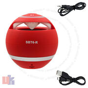 New Red Mini Speaker Bluetooth Wireless Hand-free For Pc Laptop Mobile Uked