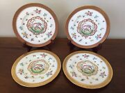 Cowell And Hubbard Cauldon Hand Painted Birds Of Paradise Encrusted Plates 4