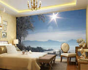 Landscape Covered With Snow Full Wall Mural Photo Wallpaper Print Home 3d Decal