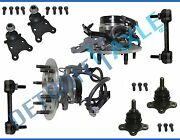 New 8pc Front Wheel Hub And Bearing Suspension Kit W/ Abs - 2wd Coil Spring No Z71
