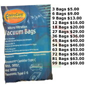 Kenmore Canister Vacuum Cleaner Bags Type C For Models 5055 50557 And 50588