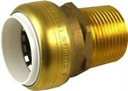 Connector 3/4in Pvcx3/4in Mnpt, Single, Partno Uip4016a, By Cash Acme